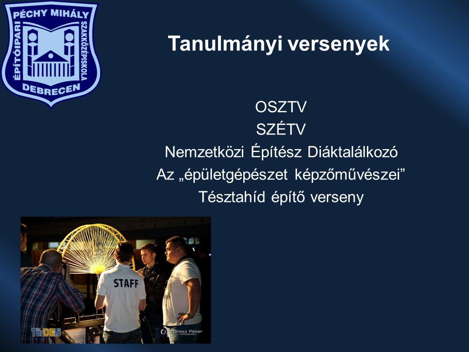 """Tanulmányi versenyek OSZTV SZÉTV Nemzetközi Építész Diáktalálkozó Az """"épületgépészet képzőművészei Tésztahíd építő verseny"""
