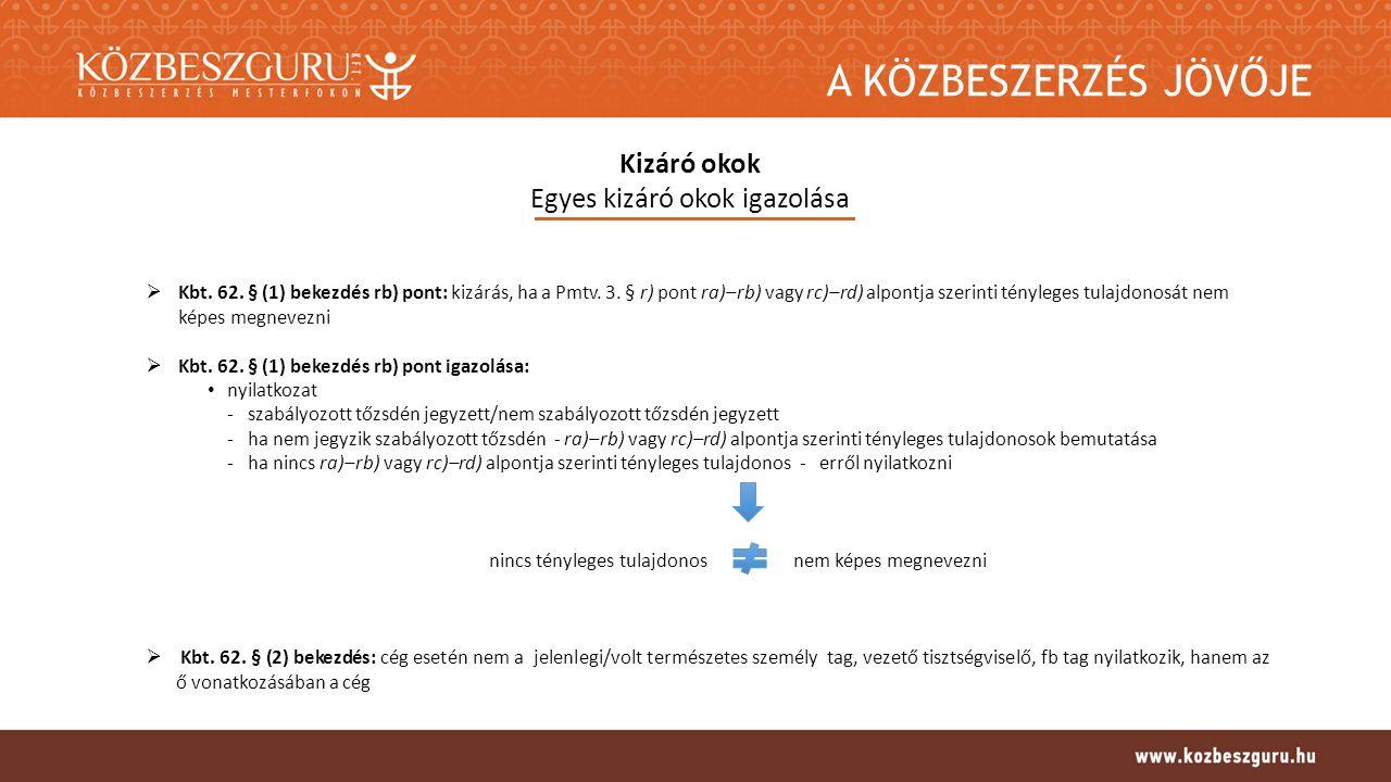 """A KÖZBESZERZÉS JÖVŐJE Bírálat Bírálat folyamata  Bírálat """"első szakasza kizárók okok, alkalmasság előzetes ellenőrzése -egységes európai közbeszerzési dokumentum (ESPD) alapján (nemzeti eljárásrendben: nyilatkozat) - hiánypótolható egyéb dokumentum ellenőrzése -ajánlatkérő által előírt dokumentum vizsgálata -szükség szerint: hiánypótlás, felvilágosítás-kérés, indokolás-kérés nemzeti eljárásrend: elektronikus nyilvántartásból is ellenőrizni kell a nyilatkozat mellett  Értékelés: megfelelőnek értékelt ajánlatok értékelése  Kizáró okok, alkalmasság igazolása -nyertes ajánlattevő/második helyezett felhívása igazolásra -meghatározott számú legkedvezőbb ajánlatot tevő felhívása igazolásra -kétség esetén igazolások bármikor bekérhetőek -igazolások hiánypótolhatóak -benyújtott igazolás eltérhet a nyilatkozattol, ESPD-től, de a rangsor nem változhat"""