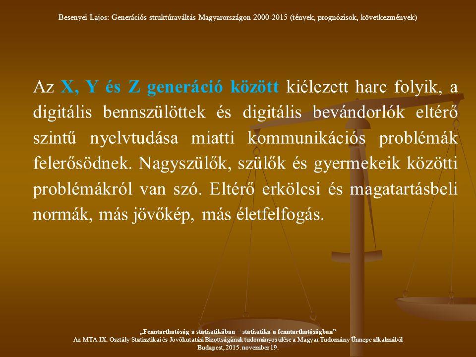 Az X, Y és Z generáció között kiélezett harc folyik, a digitális bennszülöttek és digitális bevándorlók eltérő szintű nyelvtudása miatti kommunikációs problémák felerősödnek.