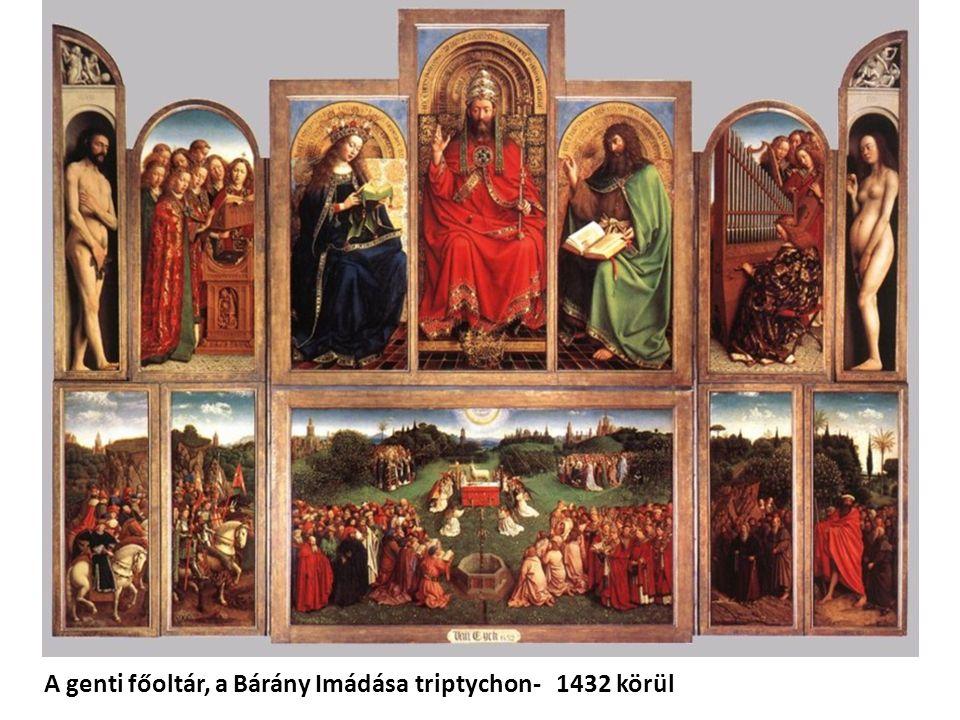 A genti főoltár, a Bárány Imádása triptychon- 1432 körül