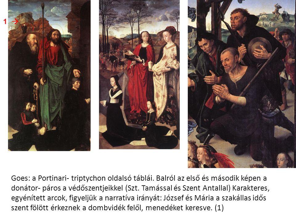 Goes: a Portinari- triptychon oldalsó táblái.