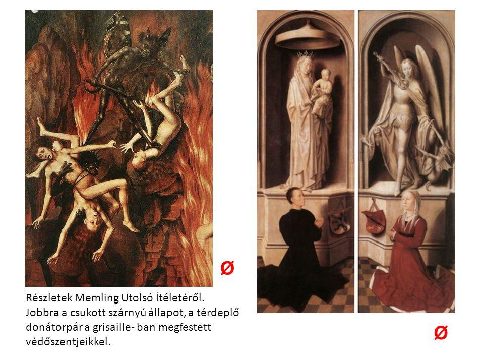 Részletek Memling Utolsó Ítéletéről.