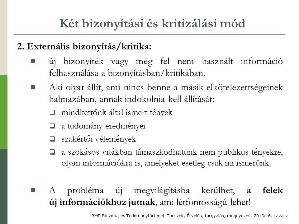 Két bizonyítási és kritizálási mód 2.