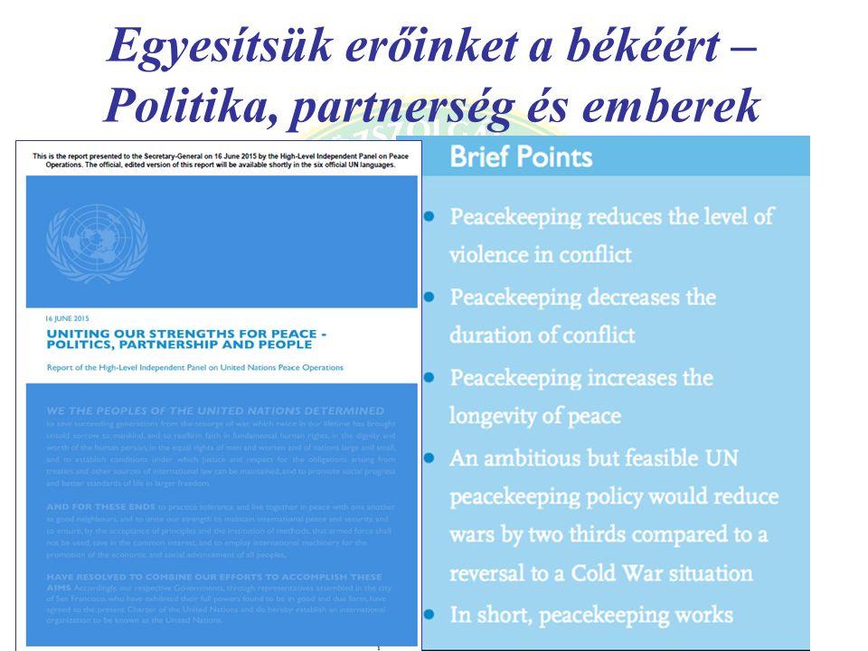 Egyesítsük erőinket a békéért – Politika, partnerség és emberek A jelentés átadása a főtitkárnak (Ban Ki-moon, Jose Ramos-Porta)