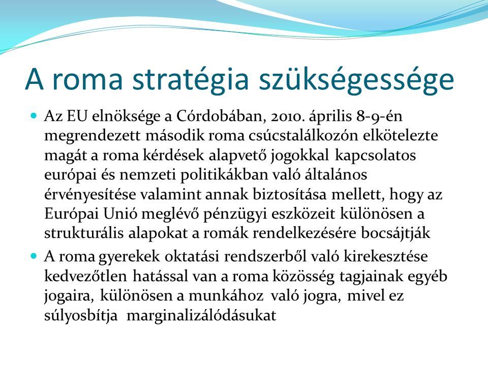 A roma stratégia szükségessége Az EU elnöksége a Córdobában, 2010.