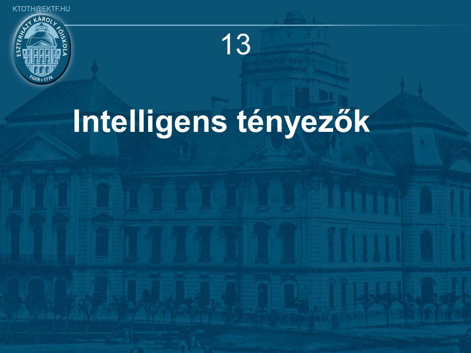 13 Intelligens tényezők