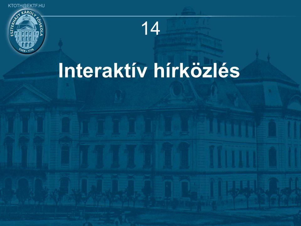 14 Interaktív hírközlés