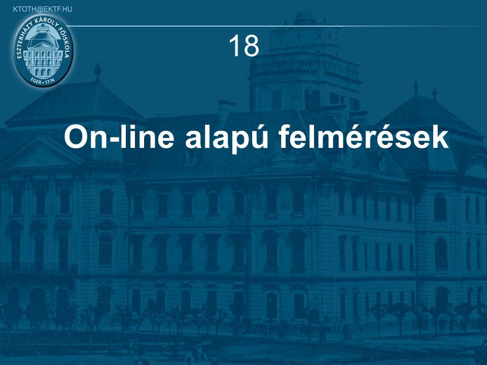18 On-line alapú felmérések