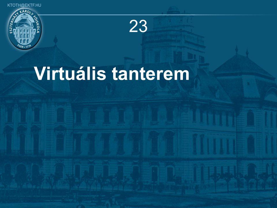 23 Virtuális tanterem