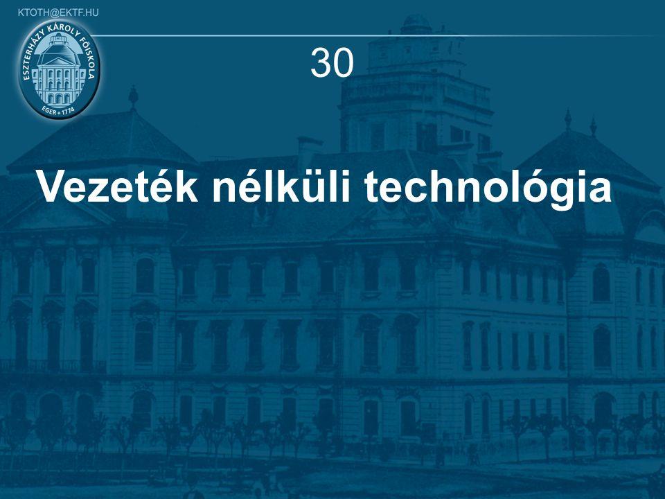 30 Vezeték nélküli technológia