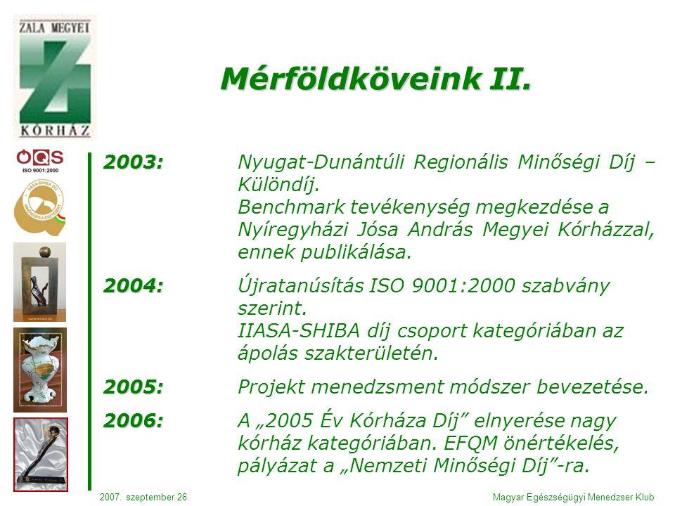 2003: 2003:Nyugat-Dunántúli Regionális Minőségi Díj – Különdíj.