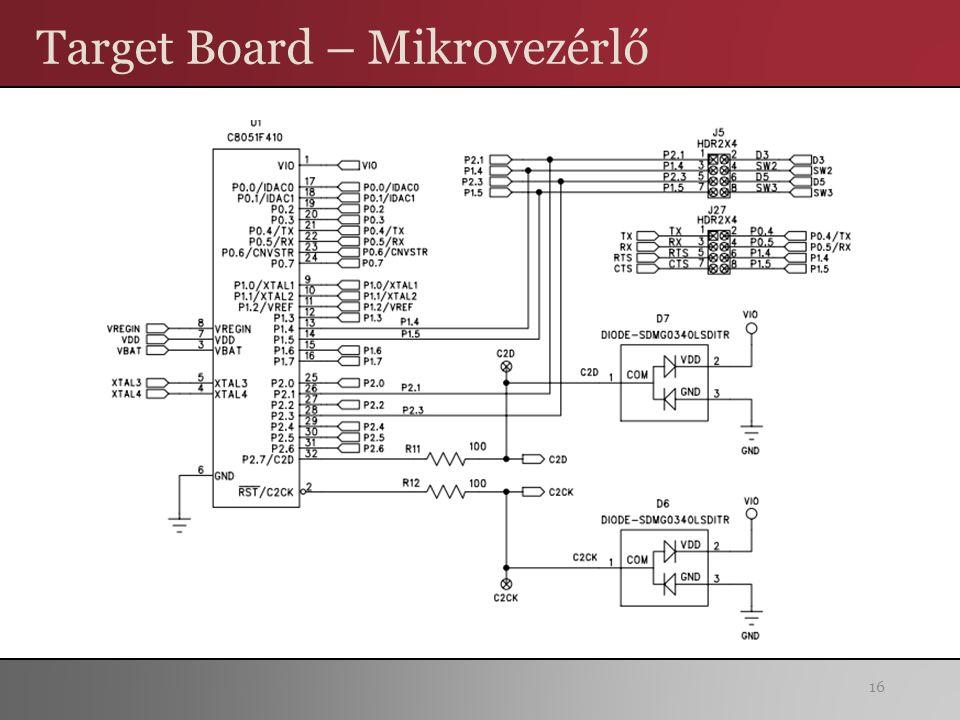 Target Board – Mikrovezérlő 16
