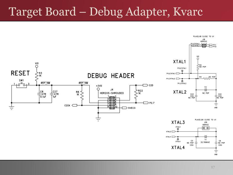 Target Board – Debug Adapter, Kvarc 17