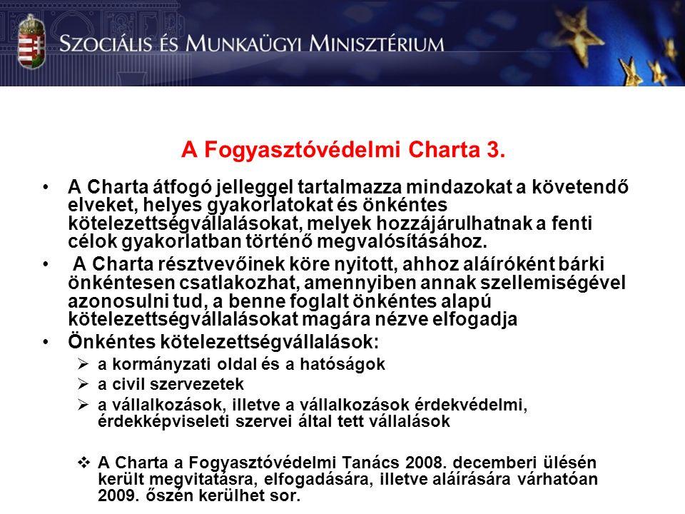 A Fogyasztóvédelmi Charta 3.