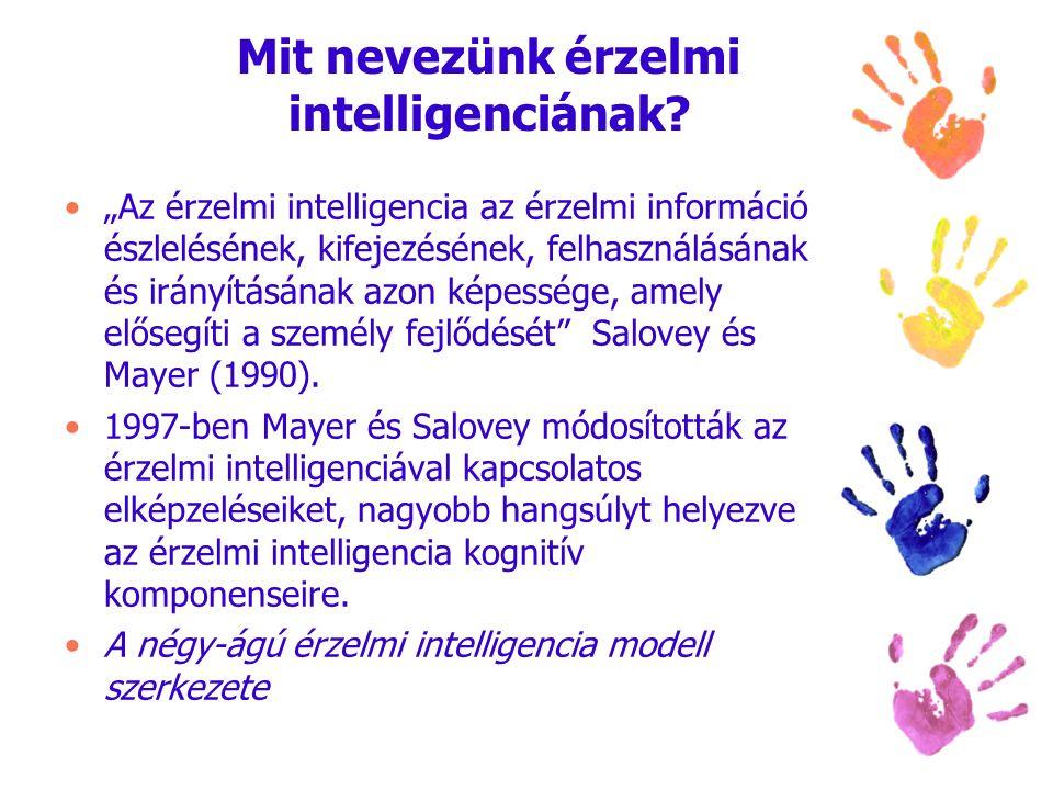 """Mit nevezünk érzelmi intelligenciának? """"Az érzelmi intelligencia az érzelmi információ észlelésének, kifejezésének, felhasználásának és irányításának"""
