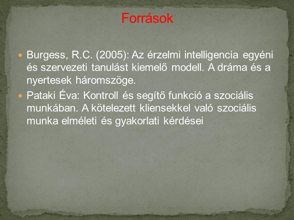 Burgess, R.C. (2005): Az érzelmi intelligencia egyéni és szervezeti tanulást kiemelő modell.
