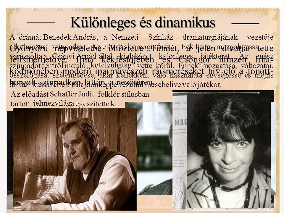 A rendező Sík Ferenc 1963-ban vég- zett a Színház- és Film- művészeti Főiskola ren- dezői szakán, 13 évvel később pedig már a vendég- rendezőjeként vitte szín- padra Vörösmarty Mihály Csongor és Tünde című drámáját.