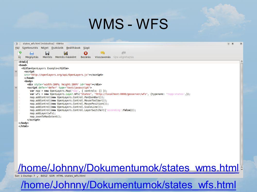 WMS - WFS /home/Johnny/Dokumentumok/states_wms.html /home/Johnny/Dokumentumok/states_wfs.html