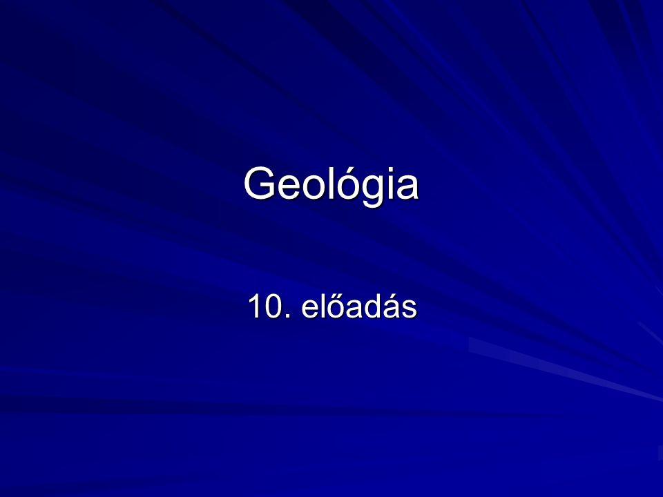 Az őslégkör Elsődleges légkör: hidrogén, hélium Oxigén nincs (ha mégis akkor 1 ezrelék alatt) → redukáló őslégkör: hidrogén, szén-dioxid, metán, nitrogén, ammónia 3600 millió éve másodlagos légkör → vulkanizmus és a fotodisszociáció alakítja A mai vulkánok gázai: - 79% H 2 O - 12 % CO 2 - 6 % SO 2 - 1 % N 2 - 2% H 2, Ar, S, H 2 S, CH 4 A légkör további alakulását az élővilág befolyásolja Ultraibolya sugárzás → fotodisszociáció → O 2 és O 3 → a sugárzást leárnyékolja, a folyamat megáll Amikor a mai oxigénszint 0,001 %-át eléri az őslégkör O 2 szintje a fotodisszociáció leáll → Urey szint Az Urey szintnél magasabb O 2 tartalom CSAK BIOLÓGIAI ÚTON JÖHET LÉTRE!!!