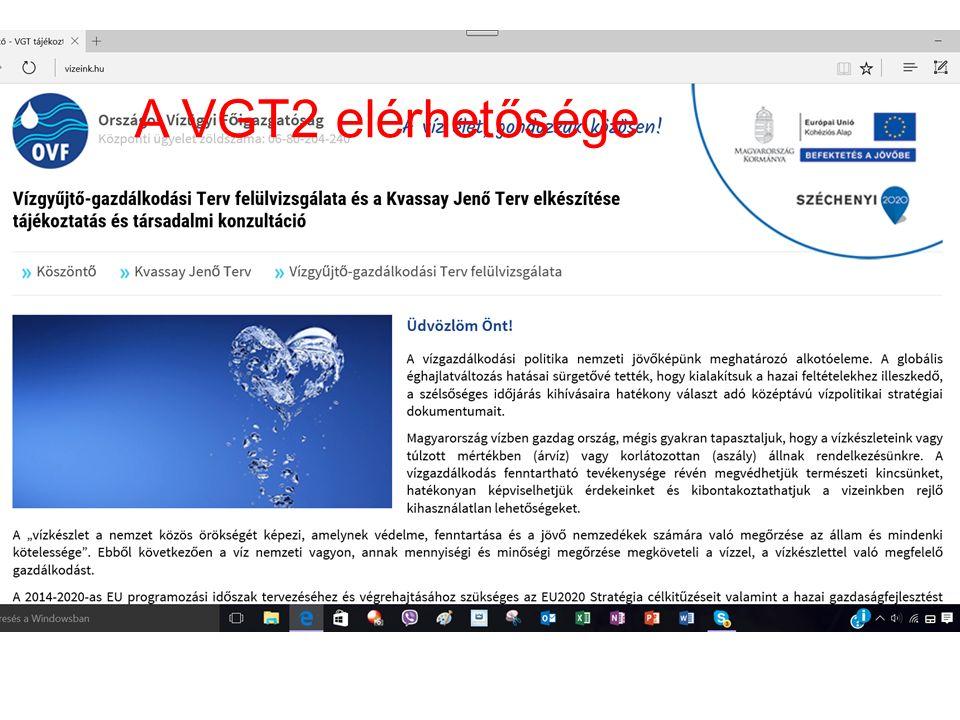 A VGT2 elérhetősége