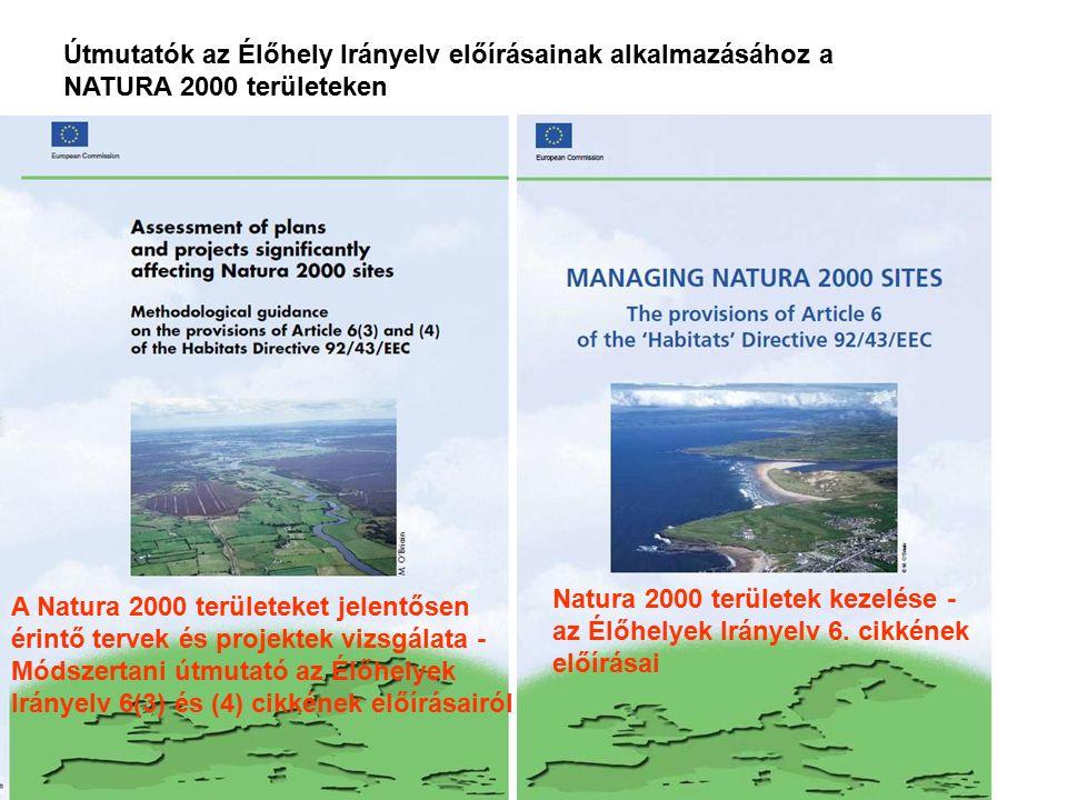 Útmutatók az Élőhely Irányelv előírásainak alkalmazásához a NATURA 2000 területeken Natura 2000 területek kezelése - az Élőhelyek Irányelv 6. cikkének