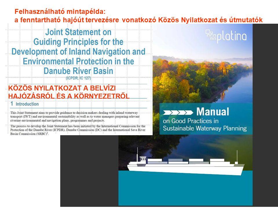 Felhasználható mintapélda: a fenntartható hajóút tervezésre vonatkozó Közös Nyilatkozat és útmutatók