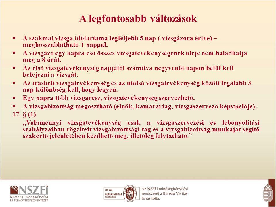 A központi vizsganapok időpontjainak elérhetősége www.nive.hu/ www.nive.hu/vizsgak/vizsgaidopontok/iskolai rendszeru vizsgak