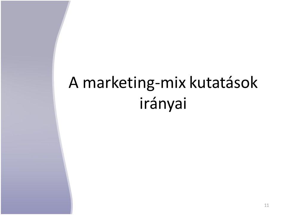 A marketing-mix kutatások irányai 11