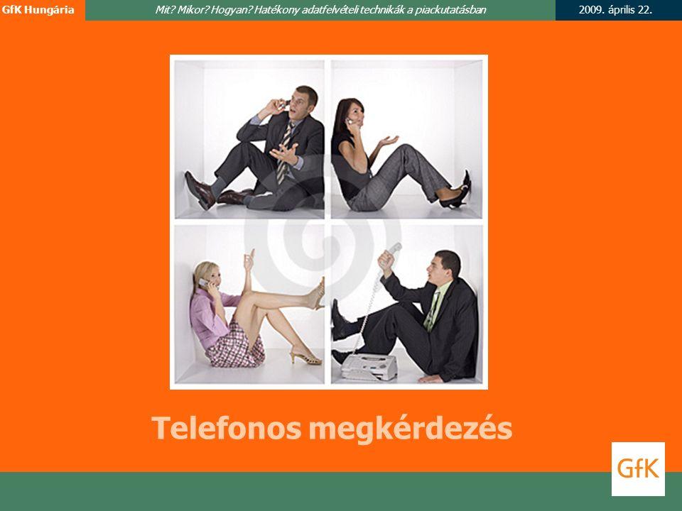 2009. április 22.GfK HungáriaMit. Mikor. Hogyan.