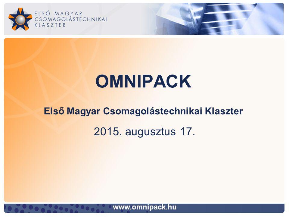 OMNIPACK Első Magyar Csomagolástechnikai Klaszter www.omnipack.hu 2015. augusztus 17.