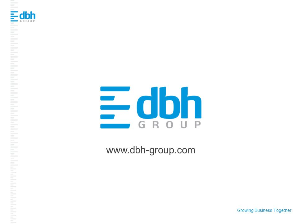 Growing Business Together www.dbh-group.com
