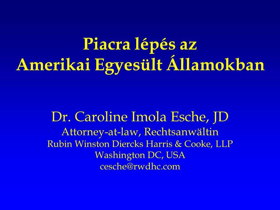 Piacra lépés az Amerikai Egyesült Államokban Dr.