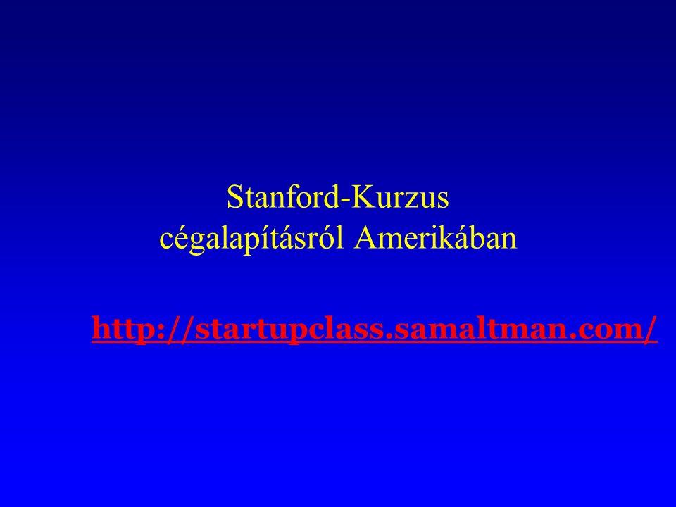 Stanford-Kurzus cégalapításról Amerikában http://startupclass.samaltman.com/