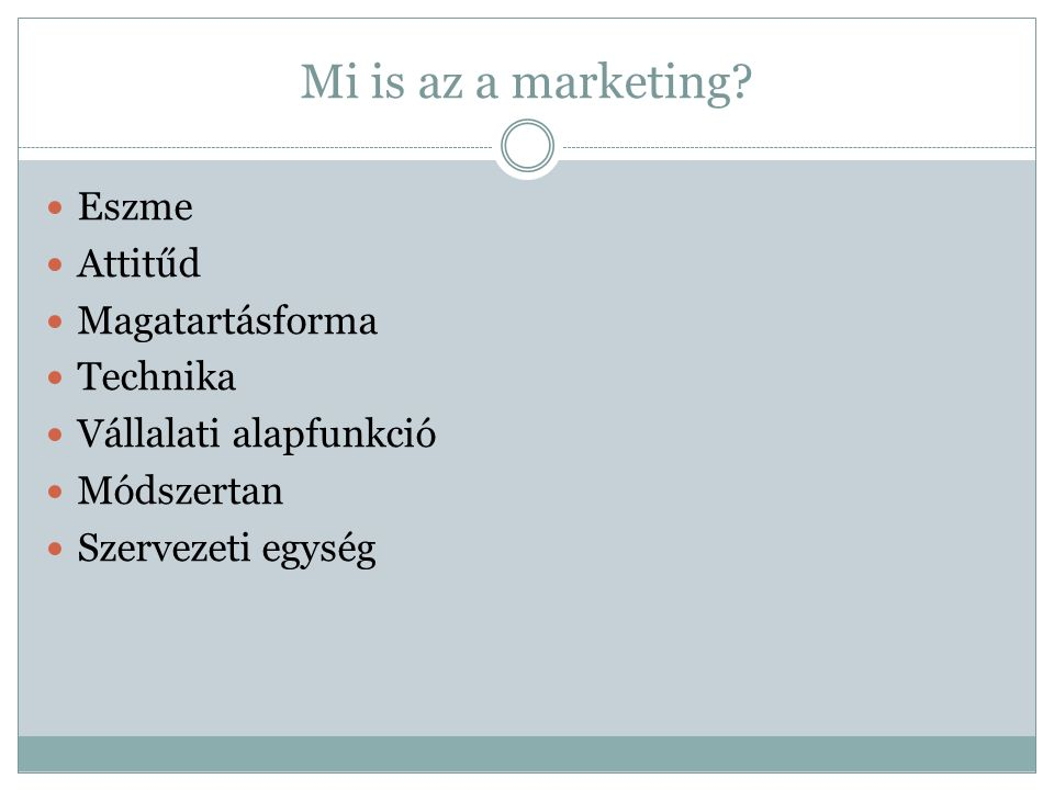 Mi is az a marketing.