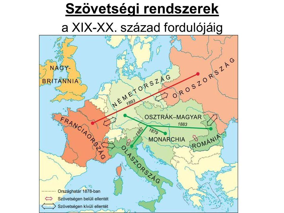Szövetségi rendszerek a XIX-XX. század fordulójáig