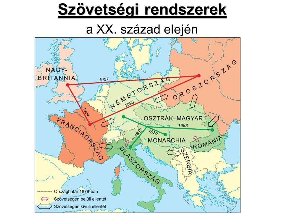 Szövetségi rendszerek Szövetségi rendszerek a XX. század elején