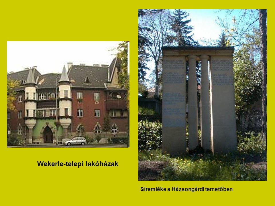 Wekerle-telepi lakóházak Síremléke a Házsongárdi temetőben