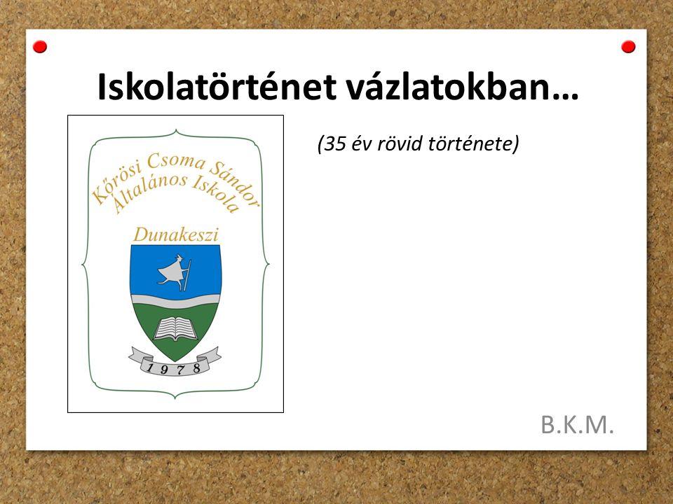 Iskolatörténet vázlatokban… B.K.M. (35 év rövid története)