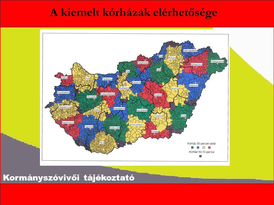 Kormányszóvivői tájékoztató A kiemelt kórházak elérhetősége