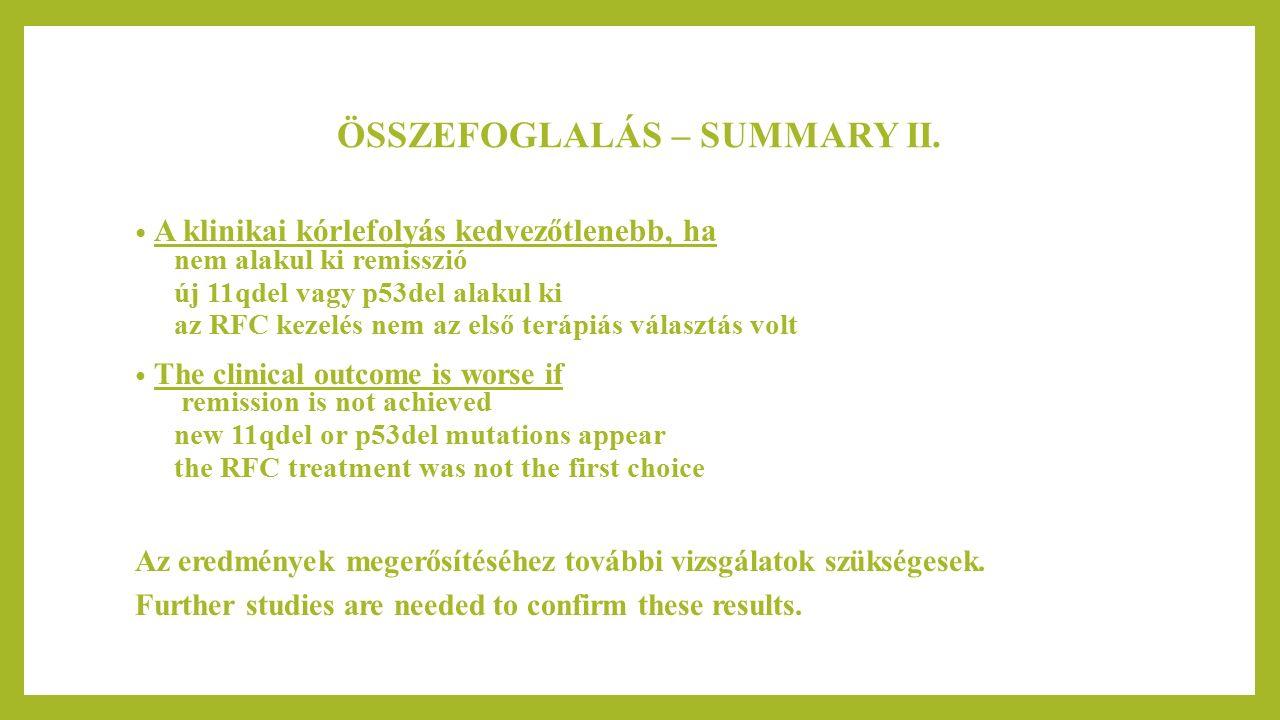 ÖSSZEFOGLALÁS – SUMMARY II.