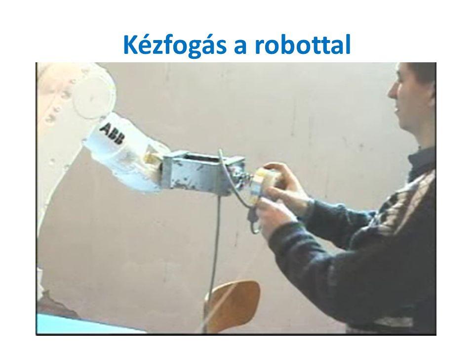 Kézfogás a robottal
