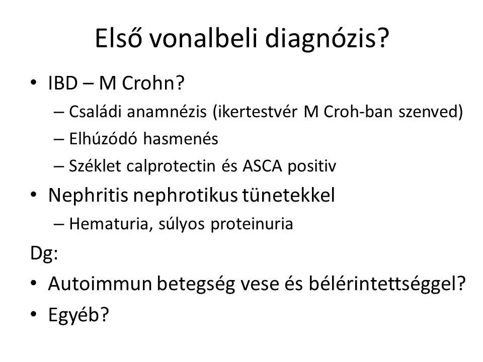 Első vonalbeli diagnózis. IBD – M Crohn.