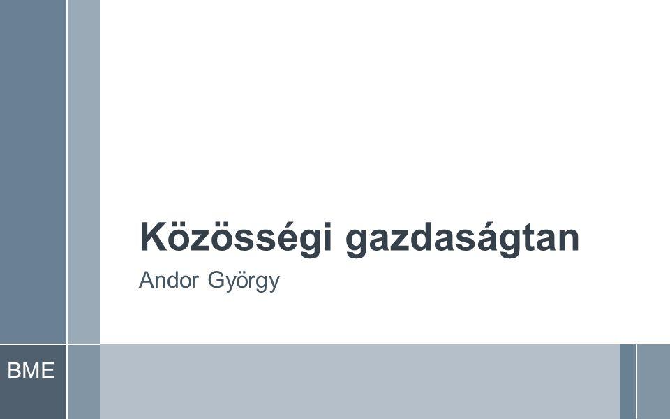 BME Közösségi gazdaságtan Andor György