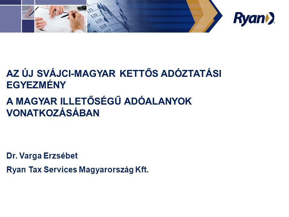 Köszönöm a figyelmet.Dr. Varga Erzsébet Ügyvéd, adótanácsadó Ryan Tax Services Magyarország Kft.