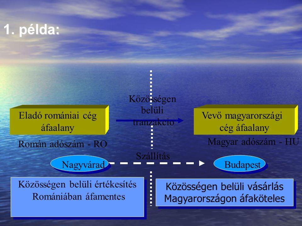 A közösségen belüli tranzakció (áruértékesítés) helye : Adótörvénykönyv 132.