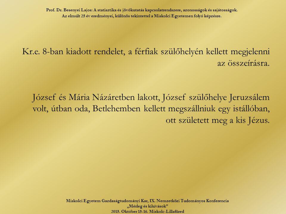 Kr.e. 8-ban kiadott rendelet, a férfiak szülőhelyén kellett megjelenni az összeírásra.