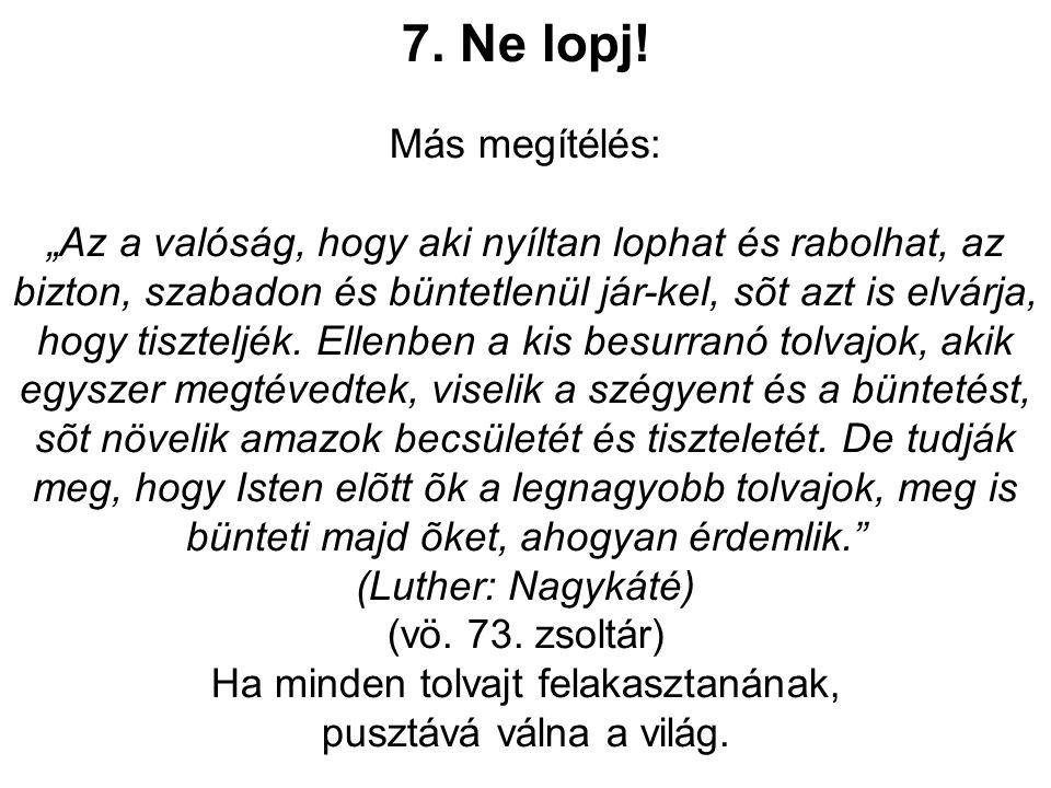 7. Ne lopj.