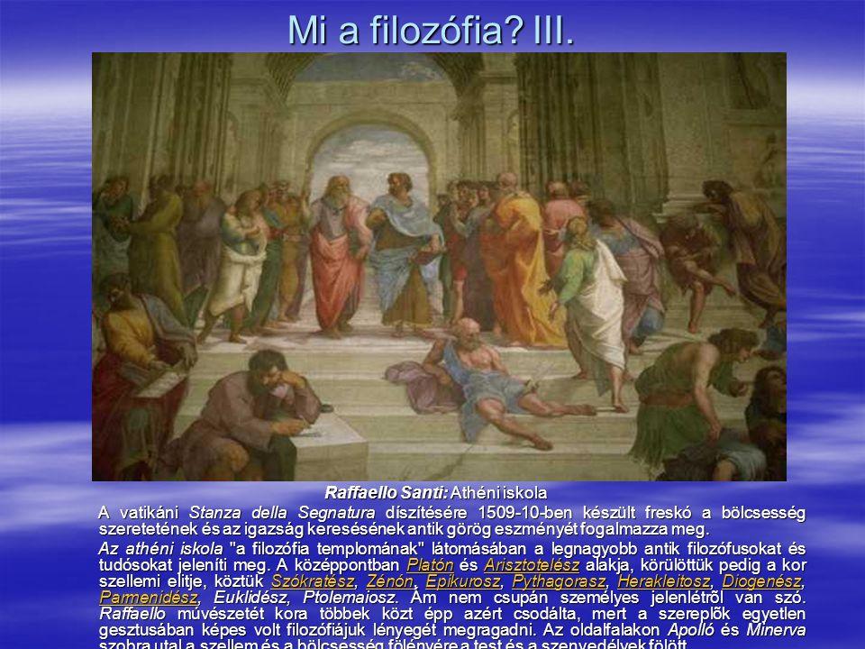 Mi a filozófia. III.