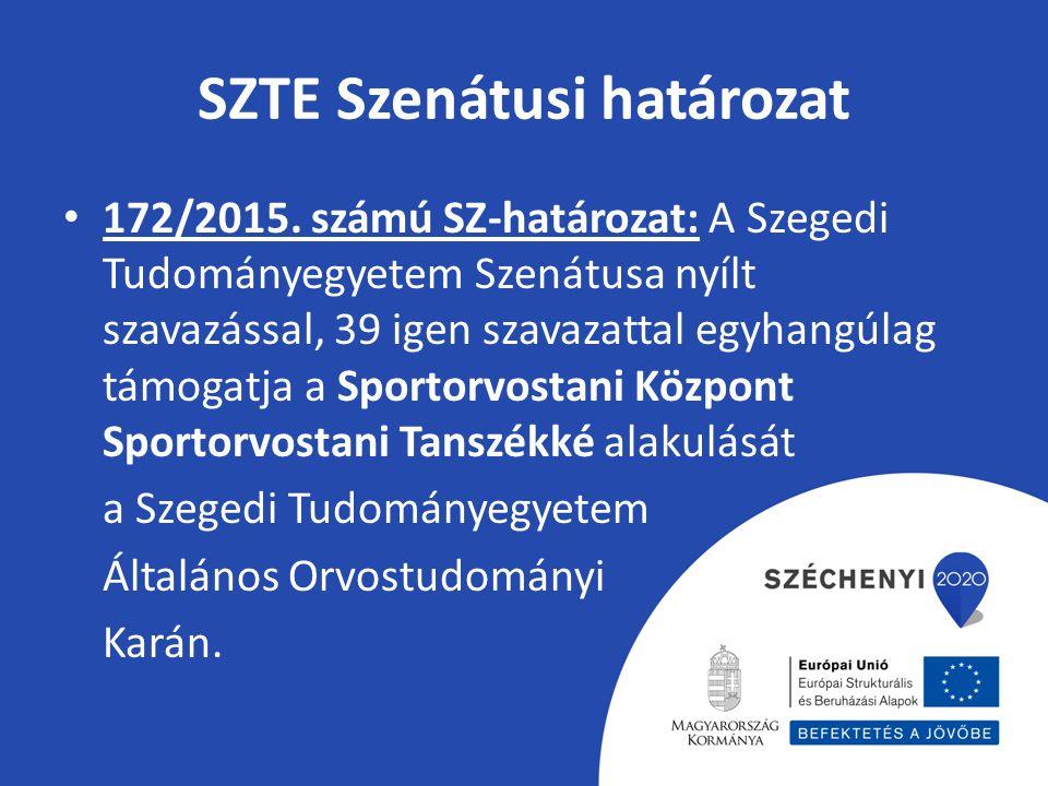 SZTE Szenátusi határozat 172/2015.