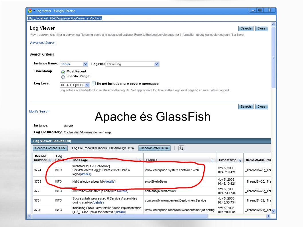 Apache és GlassFish